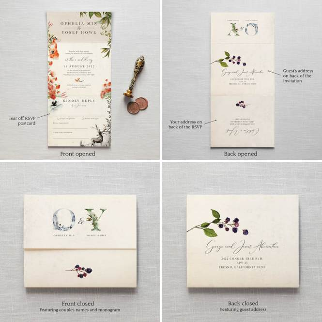 Once Upon A Time Wedding Invitation Feel Good