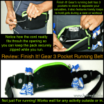 Finish It! Gear 3 Pocket Running Belt Is A New Essential