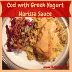 Cod with Greek Yogurt Harissa Sauce Recipe