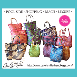 A review of the Carol S Miller large-sized, hand-woven, fair-trade beach bag in the Ravoul Playa design. The full review is on www.feelingfit.info