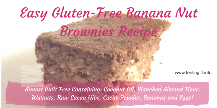 These Gluten-Free Banana Nut Brownies are almost gulit-free and so easy to make!