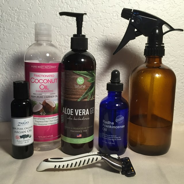 Aloe Shaving Oil Ingredients