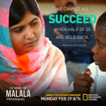 Don't Miss He Named Me Malala tonight!