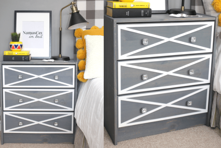 Ikea Rast Hack Nightstand with Farmhouse Style