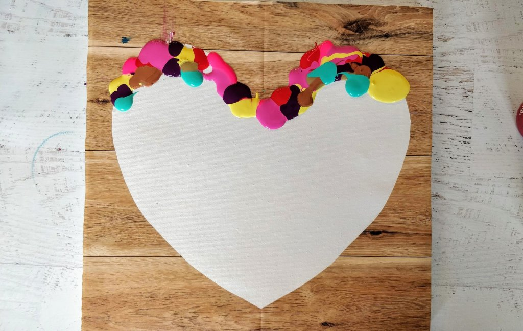 Heart Painting On Canvas 3 Ways Easy Tutorial For Kids Adults