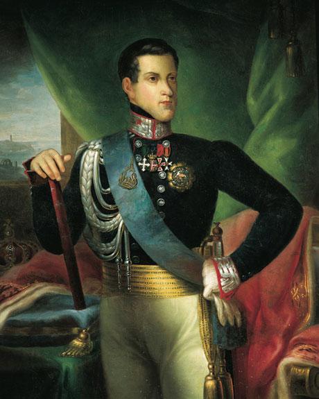 Carlos Alberto de Savoia-Carignano, pintura do séc XIX. Autor desconhecido
