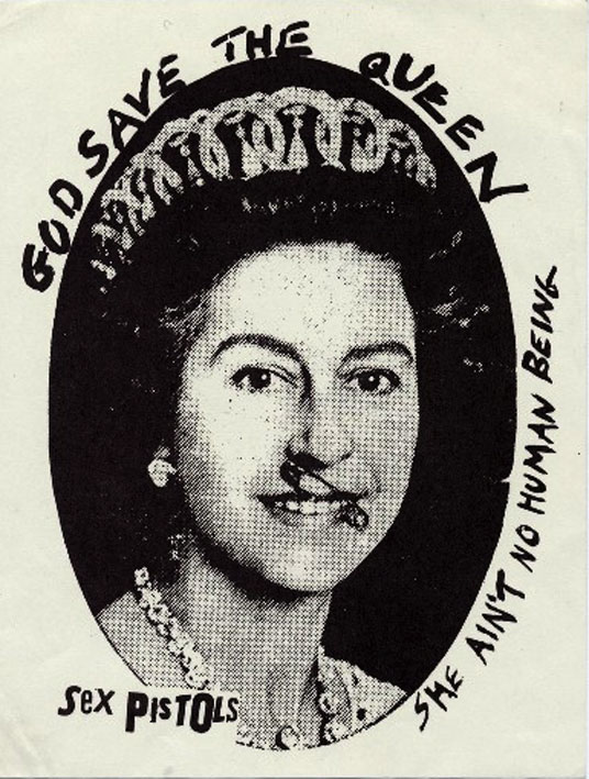 The Sex Pistols God Save The Queen Promo Sticker Safety Pin