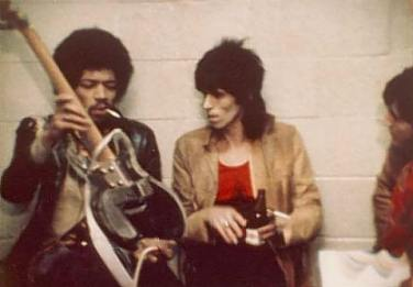 Jimi Hendrix Keith Richards The Rolling Stones