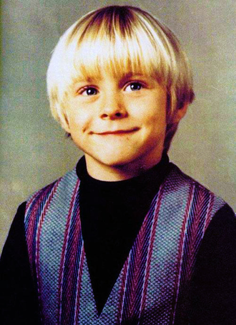 Kurt Cobain 2nd Grade Photo Funeral Program Nirvana