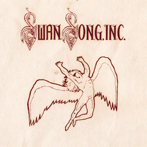 Led Zeppelin Swan Song Inc. Logo Record Label