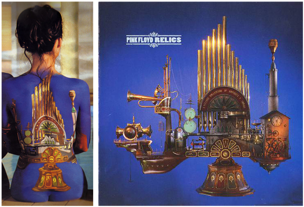 Pink Floyd Back Catalogue Body Paint Models Relics
