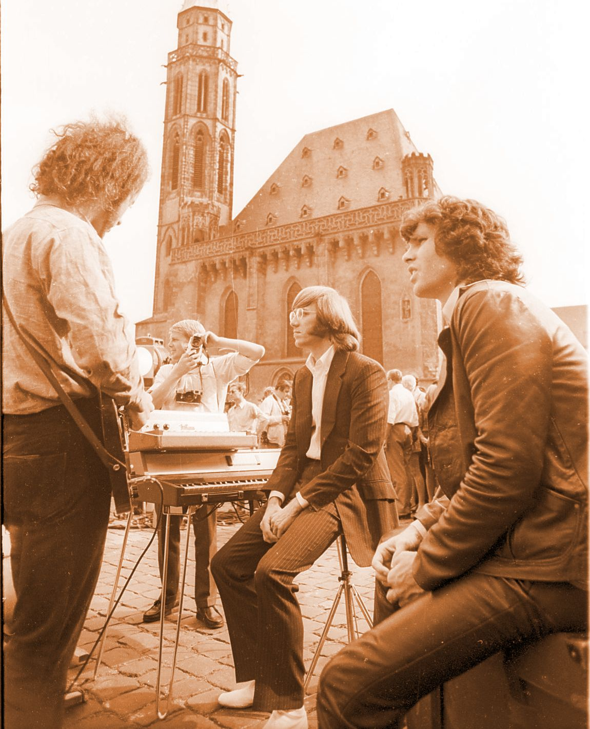 The Doors Frankfurt Germany 1968 Romer Square Jim Morrison Church