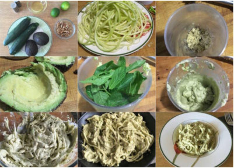 Pasos espaguetis de calabacín con aguacate | Feelomena's Kitchen - Web Oficial