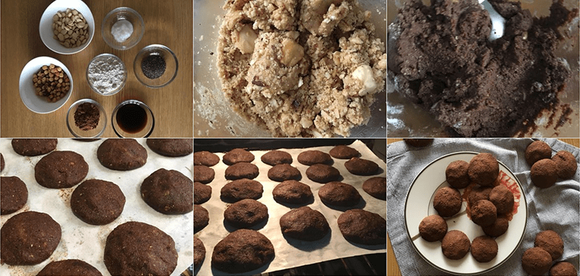 Pasos Galletas de Cacao y Chía | Feelomena's Kitchen - Web Oficial