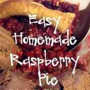 Easy Homemade Raspberry Pie