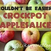 How to Make Applesauce in the CrockPot