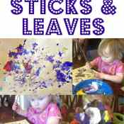 Painting With Sticks and Leaves