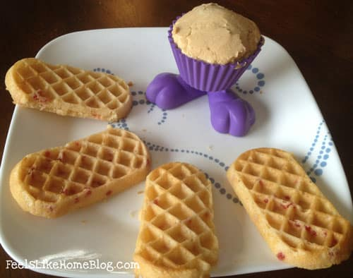 Peanut butter and jelly waffle sticks