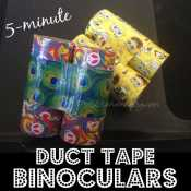 Easy Duct Tape Binoculars Made from Toilet Paper Tubes