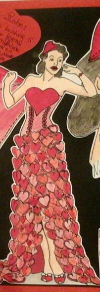 Silhouette robe coeur