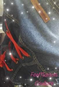 Veste jean's corset