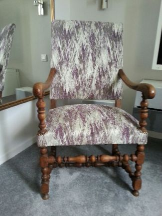 Fauteuil Louis XIII Feemaisoncouture