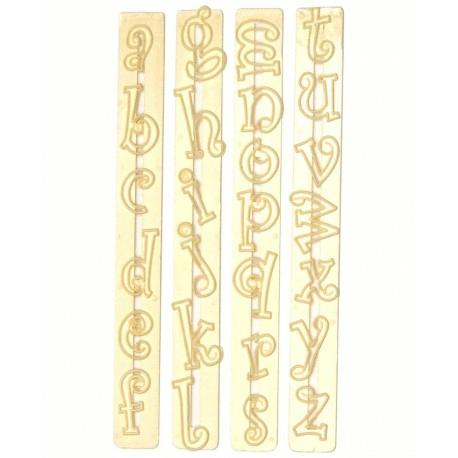 emporte piece alphabet lettres minuscules funky