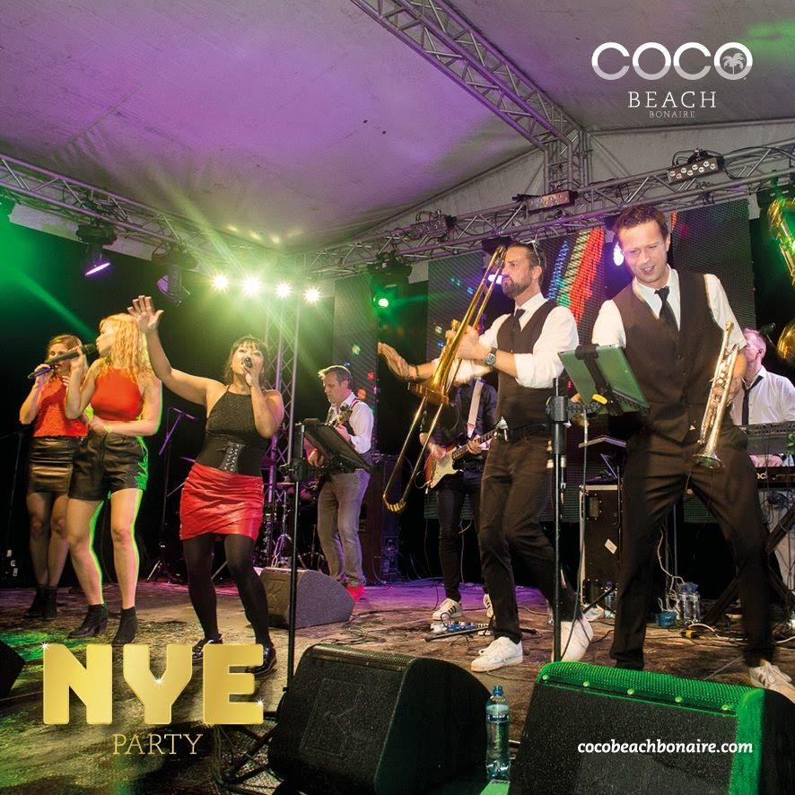 Coco Beach Bonaire Oud en Nieuw party Dutch Caribbean | feestband.com
