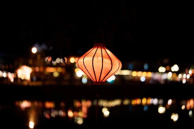 In mijn hand een lampion