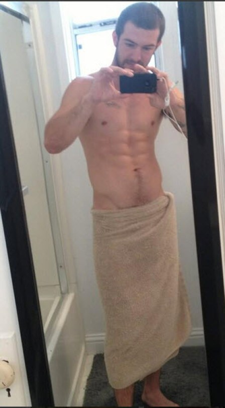 Brandon in a towel (his twitter pix)