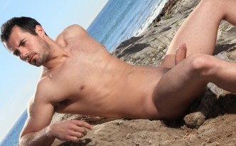 DylanLucas brock cooper beach pool motorcycle solo masturbation featured