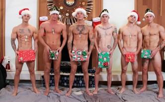 Active Duty Quentin Gainz - Zack Matthews - Princeton Price - Ripley Craig Cameron - Ryan Jordan Holiday Orgy Bareback Gay Fuck Group Sex feat