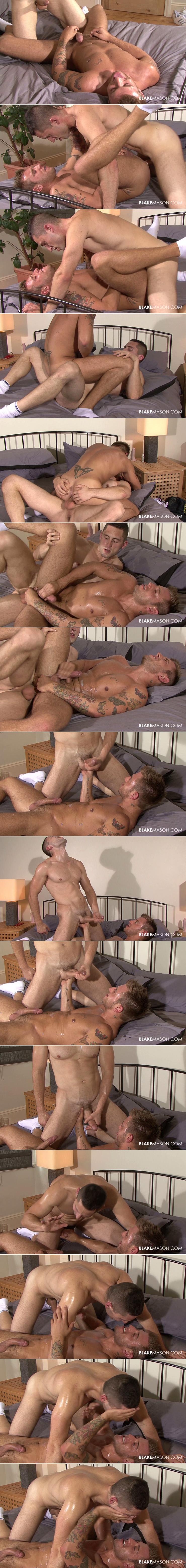 BlakeMason Dominic Belko Jed Gay Condom Sex Uncut Cock European Porn Tattoos White Socks Massive Cumshot Sweaty Sex stills