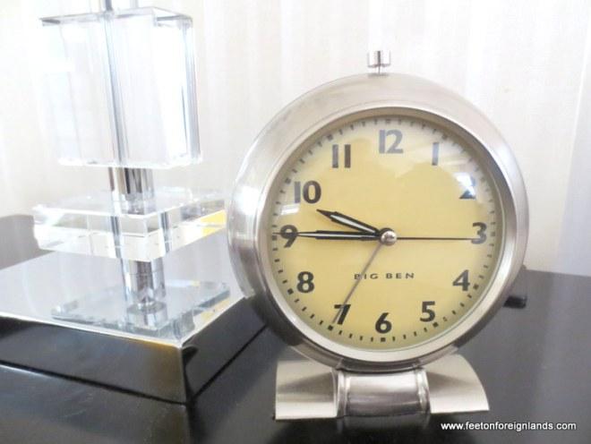 Benjamin Hotel, NYC bedside clock