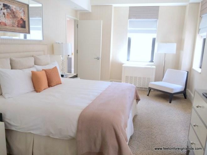 Benjamin Hotel, NYC bedroom