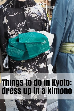 Dressing up in a kimono in Kyoto: www.feetonforeignlands.com