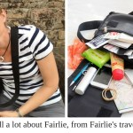 You can tell a lot about Fairlie, from Fairlie's travel handbag