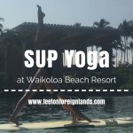 SUP Yoga at Waikoloa Beach