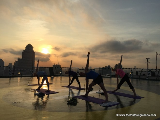 Yoga on the helipad at The Peninsula Bangkok (6)