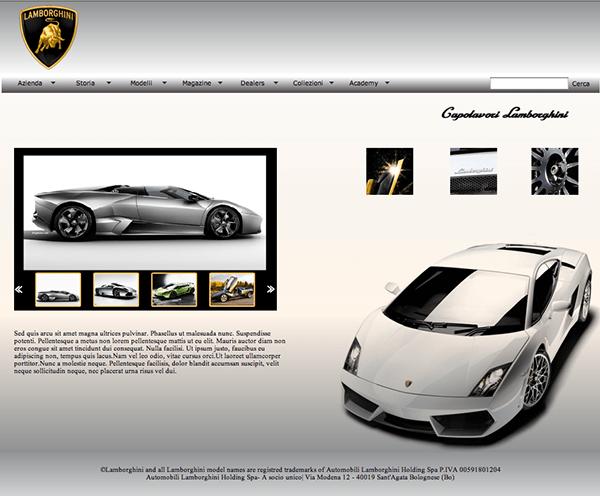 web design // Lamborghini 03