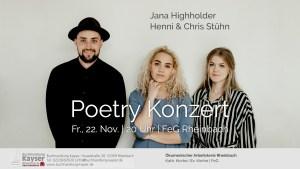 Poetry Konzert