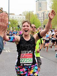 Melissa running a marathon