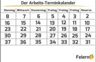 Der Arbeits-Terminkalender