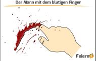 Der Mann mit dem blutigen Finger