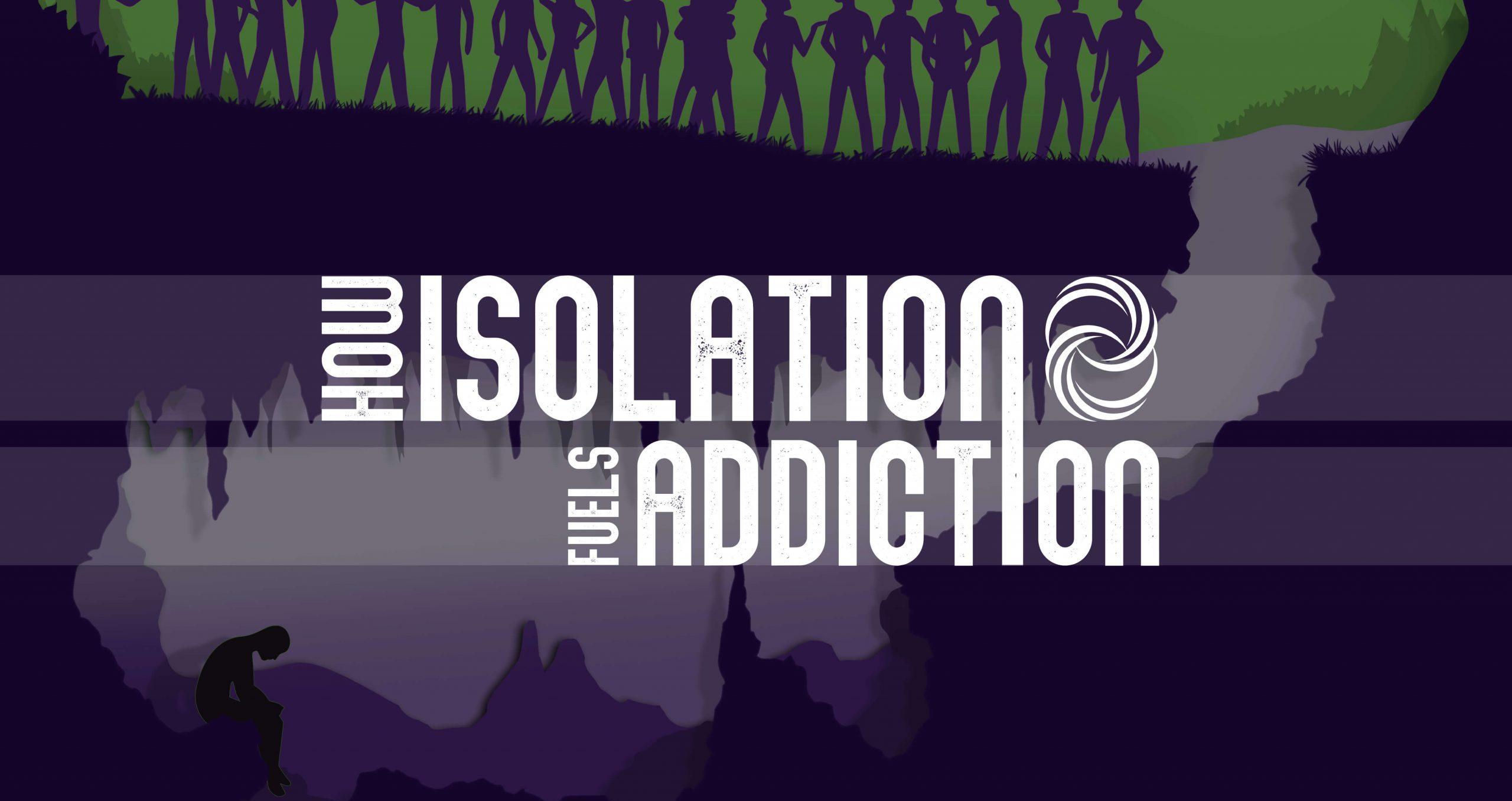 Isolation and addiction illustration