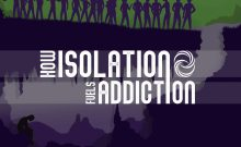 Isolation and addiction illustration