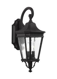 OL5401BK,2  Light Wall Lantern,Black