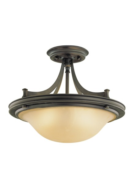 SF195ORB 2   Light Indoor Semi Flush Mount Oil Rubbed Bronze Loading zoom