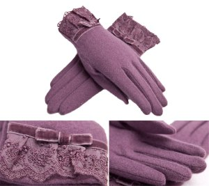 Women's Lilac Gloves