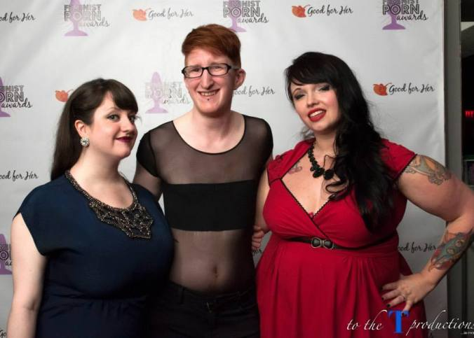 Taylor Posing with Claire Ah and Samatha Fraser at the Feminist Porn Awards 2015